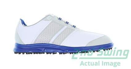 new-footjoy-junior-golf-shoe-medium-1-whiteblue-msrp-140-45045