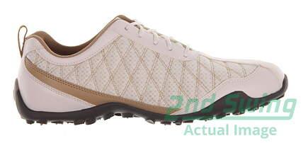 new-womens-golf-shoe-footjoy-superlites-medium-7-whitetan-msrp-140-98847
