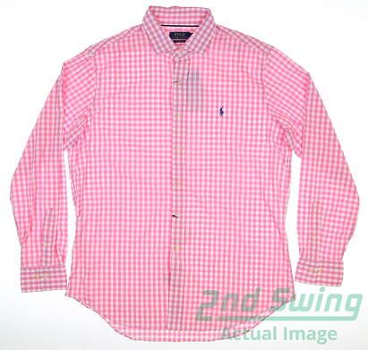 new-mens-ralph-lauren-button-up-large-l-pink-msrp-105