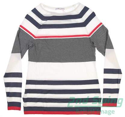 new-w-logo-womens-fairway-greene-kate-sweater-small-navigator-msrp-185-j32270
