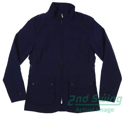 new-womens-peter-millar-katherine-diamond-quilted-jacket-medium-m-navy-msrp-225