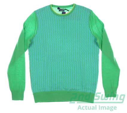 new-w-logo-womens-ralph-lauren-golf-sweater-large-l-red-msrp-300