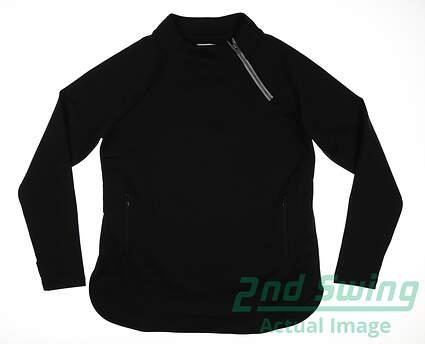 new-womens-footjoy-asymmetrical-pullover-medium-m-black-msrp-135-27593