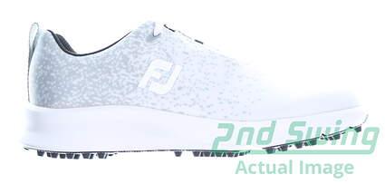 new-womens-golf-shoe-footjoy-prior-generation-leisure-medium-55-whitegrey-msrp-110-92922
