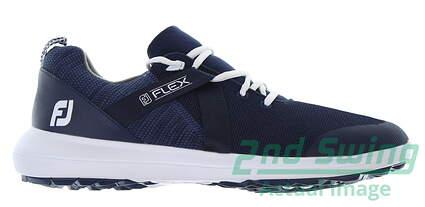 new-mens-golf-shoe-footjoy-fj-flex-medium-75-blue-msrp-90-56102