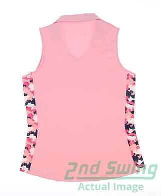 new-womens-heather-grey-tami-crescent-sleeveless-golf-polo-x-small-xs-taffy-msrp-85