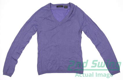 New Women's Aur Golf Sweater Small S Periwinkle LS V-Neck
