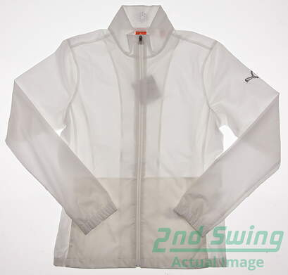 New Women's Puma Golf Wind Jacket Cresting Small S White 567546 MSRP $70.00