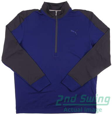 New Men's Puma Golf CB Pullover Medium M Sodalite Blue LS 569100