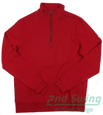 New Men's Dunning Golf Pullover Small S Red Quarter Zip
