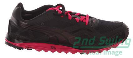 New Womens Golf Shoes Puma Faas Lite Mesh WNS Size 7 Black Pink 186848-02