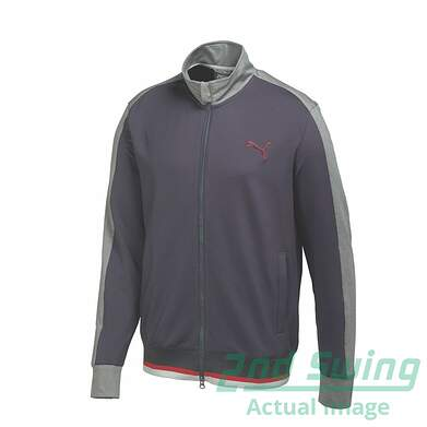 New Mens Puma Track Style Warm Cell Golf Jacket Medium Periscope Gray 569102 MSRP $80