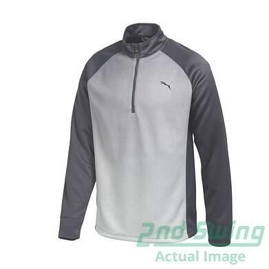 New Mens Puma Quarter Zip Go Time Fade Graphic Golf Sweater Medium Gray 569609 MSRP $75