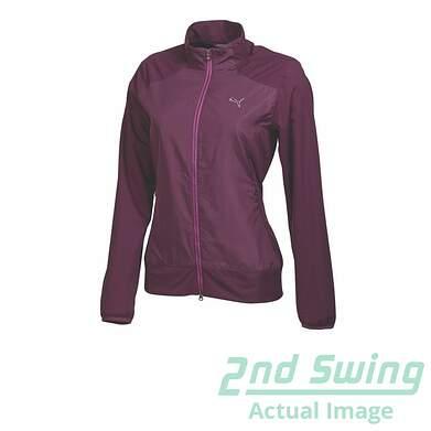 New Womens Puma Wind Tech Storm Cell Golf Jacket Small Italian Plum 569082 MSRP$95