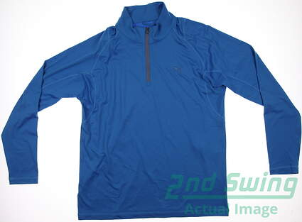 New Mens Puma Performance Quarter Zip Dry Cell Golf Pullover Medium Cloisonne 569113 MSRP $65