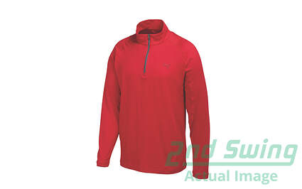 New Mens Puma Performance Wicking Dry Cell Golf Pullover Medium Tango Red 569113 MSRP $75