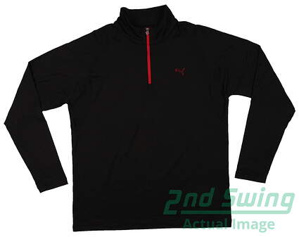 New Mens Puma Solid Tech Wicking Dry Cell Golf Pullover Medium Black 569113 MSRP $65