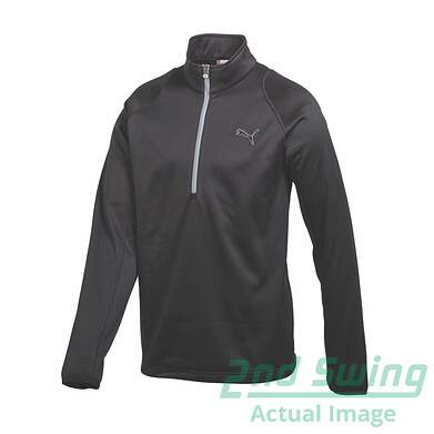 New Mens Puma Warm Cell Thermal Insulated Golf 1/4 Zip Pullover Medium Black 566681 MSRP $90