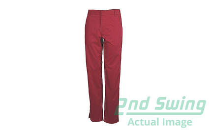 New Mens Puma Plaid Tech Dry Cell Golf Pants 32x32 Red/Crimson 567826 MSRP $90