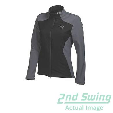 New Womens Puma Warm Cell Stretch Fill Thermal Golf Jacket Small Black/Gray 569083 MSRP $110