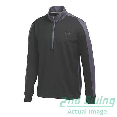 New Mens Puma Color Block Dry Cell Wicking Golf 1/4 Zip Pullover Medium Black 569100 MSRP $75