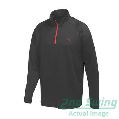 New Mens Puma Dry Cell Wicking Stretch Baselayer Golf 1/4 Zip Pullover Medium Black 569113 MSRP $70