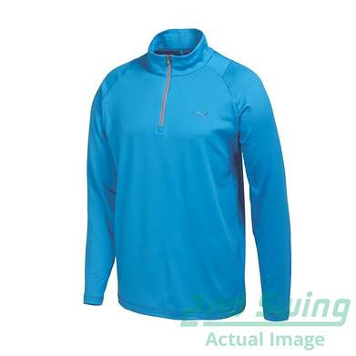 New Mens Puma Baselayer Stretch Golf 1/4 Zip Pullover Medium Cloisonne 569113 MSRP $65