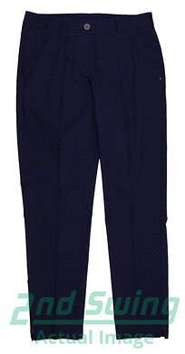 New Womens Puma Dot Patter Wicking Tech Golf Pants Size 4 Peacoat 5691085 MSRP $85
