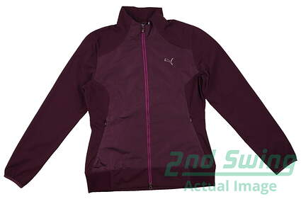 New Womens Puma Water Proof Storm Cell Golf Jacket Small Italian Plum 569082 MSRP$95