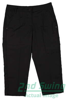 New Womens Puma Golf Solid Tech Capri Size 4 Black MSRP $70.00