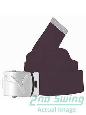 New Womens Puma Spectrum Golf Web Belt One Size Fits Most Italian Plum MSRP $18