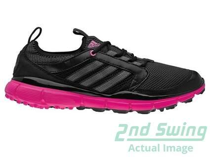 New Womens Golf Shoes Adidas Adistar ClimaCool Medium 9.5 Black Pink