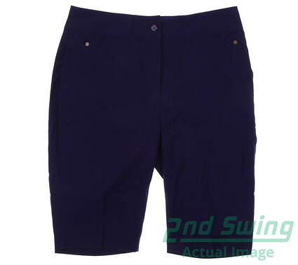 New Womens EP Pro Stretch Wicking Performance Golf Shorts Size 4 Royal Blue MSRP $70