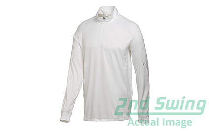 New Mens Puma Breathable Dry Cell Tech Golf 1/4 Zip Pullover Medium White 568248 MSRP$65