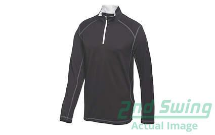 New Mens Puma Breathable Dry Cell Tech 1/4 Zip Pullover Medium Black 568248 MSRP $65