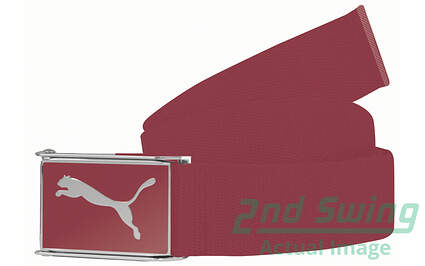 New Puma Golf Mens Belts One Size Fits Most Tango Red Polyester 908324-08 MSRP $20