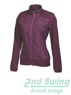 New Womens Puma Tech Wind Golf Jacket Italian Plum Small S MSRP $95