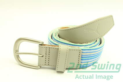 New Womens Puma Ribbon Grey Golf Belt Size Large MSRP $35