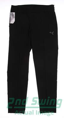 New Womens Puma Black Ultimate Sports Performance Golf Pants Size 36 (Small)