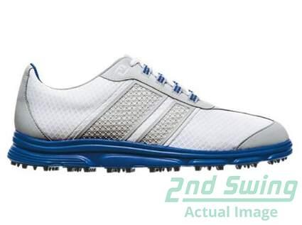 New Mens Golf Shoes Footjoy Superlites CT Medium 9.5 White/Blue