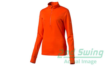 New Womens Puma Golf 1/4 Zip Pullover Small Cherry Tomato Dry Cell 570544 MSRP $65