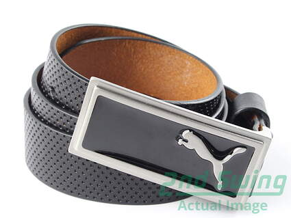 New Womens Puma Golf Belt Black Large Leather MSRP $40