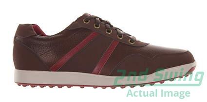 New Mens Golf Shoe Footjoy Contour Casual Medium 9 Brown MSRP $140 54371