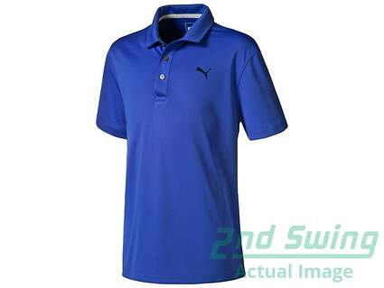 New Womens Puma Essentials Pounce Polo Large L Dazzling Blue MSRP $60 570625