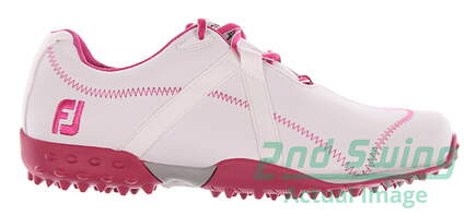 New Womens Golf Shoe Footjoy M Project Medium 6.5 White/Pink MSRP $180