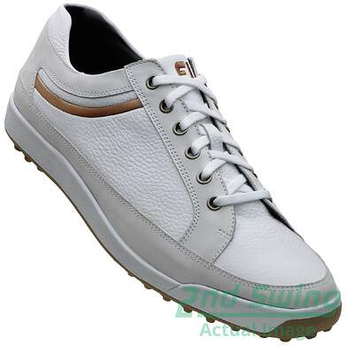 New Mens Golf Shoe Footjoy Contour Casual Medium 9.5 White MSRP $120