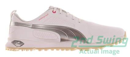 New Womens Golf Shoes Puma BioFly Medium 8.5 White/Puma Silver/Vapor Blue 187877-01 MSRP $90