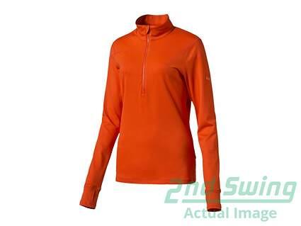 New Womens Puma Golf 1/2 Zip Pullover Small S Cherry Tomato MSRP $70
