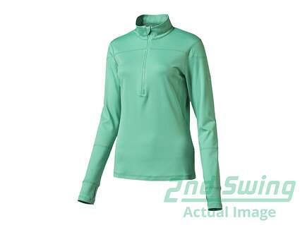 New Womens Puma Golf 1/2 Zip Pullover Small S Mint Leaf MSRP $70