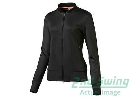 New Womens Puma Golf Full Zip Mock Neck Small S Black MSRP $70